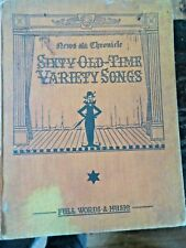 News & Chronicle Sixty Old Timer Variety Songs 1930's Hardback