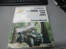 NOS Yamaha Service Shop Manual 2004 KODIAK 450 4WD LIT-11616-KD-45