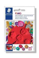 FIMO Silikon-motiv-form Flowers 5 Blumen-motive rot