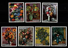 Paraguay 1970 Mi 2092-2098 Paintings of flowers MNH (1)