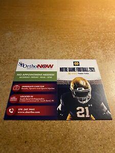 Notre Dame University 2021 Football Pocket Schedule