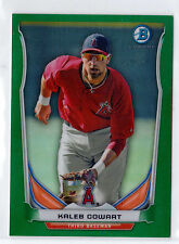 KALEB COWART 2014 BOWMAN CHROME MINI GREEN REFRACTOR #09/10 PROSPECT ROOKIE RC !