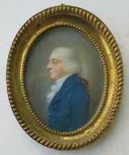 French miniature portrait 1800: Handsome young gentleman, born 1775