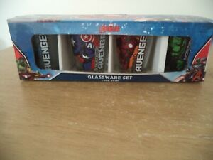 Avengers Four Pack Shot Glass Set Clear