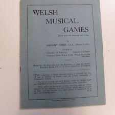 Cancionero musical galesa Juegos, Margaret Rosser, viejo notación + Solfa