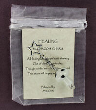 HEALING MUSHROOM CHARM Amulet Talisman Luck Attraction Symbol Magick WHITE