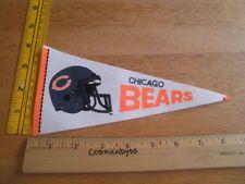 "Chicago Bears 1980's felt pennant 9"" mini football helmet"