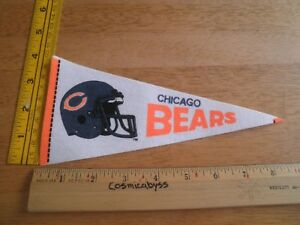 "Chicago Bears 1980's felt pennant 9"" mini football helmet"