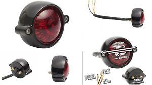 Black Motone LED ELDORADO TAIL LIGHT Cafe Racers Hot Rods Bobber Custom Chop