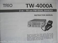 Kenwood-trio tw-4000a (manuale di istruzioni solo)....... radio_trader_ireland.