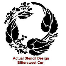 Bittersweet Curl Reusable Stencil - MEDIUM - Easy DIY Home Decor Stencil Design