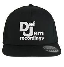 Chapeau Def Jam,Snapback Casquette noir,musique Rap Hip-Hop années 80 90