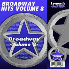CDG CDs Broadway Musicals Legends Vol 8 KARAOKE  NEW 3 Day Ship