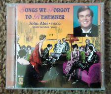 Songs We Forgot to Remember by John Aler (Tenor Vocal) (CD, Mar-1996, Delos)