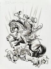 Hounds of Actaeon Original Artwork by Michael Wm Kaluta and Thomas Yeates