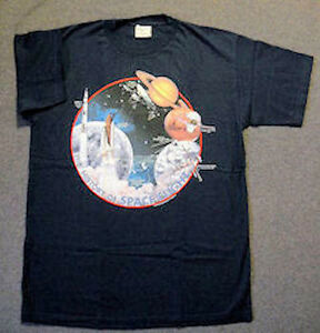 HISTORY OF SPACE FLIGHT  SPACE T-SHIRT.  XL.  NEW IN PACKAGE  SPECIAL PRICE.
