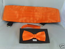 <TOP Deal> SHINY Neon ORANGE Cummerbund and Bow Tie Sets-Over 60 Colours in SHOP