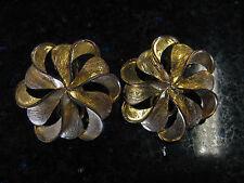 Vintage Goldtone Clip earrings - 1960's.