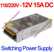 DC 12V 15A Switching Power Supply Regulated Adapter for CCTV Security Camera DVR