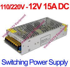 110-240V to DC 12V 15A Power Supply Adapter Switch Transformer CCTV Camera DVR