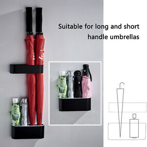 2Pcs/Set Umbrella Stand Holder Wall Mounted Storage Rack Home Office Creative