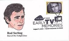 P M WAGNER HD/HP PMW CACHET FDC FIRST DAY COVER 2009 TV TWILIGHT ZONE SERLING-AL