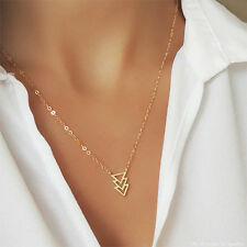 *VERY RARE* $138 14K GOLD TRIAD TRIANGLE CHAIN NECKLACE ANTHROPOLOGIE BHLDN