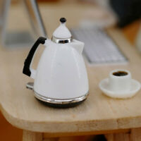 Mini dollhouse kettle pot miniature kitchen kettle toy pot dolls decorations