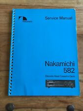 Nakamichi 582 Original Service Manual