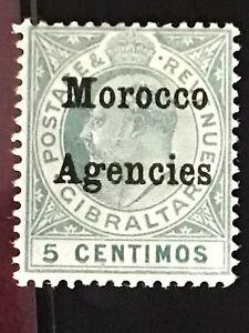 Morocco Agencies stamp EVII 5c grey green MH