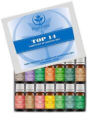 Essential Oil Gift Set Sampler Kit 14 - 10 ml. 100% Pure Therapeutic Grade Lot