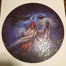 """Vintage 1984 Dungeons & Dragons """"Wizard's Revenge"""" 500 pc Round Jigsaw Puzzle"""