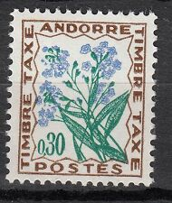 TIMBRE TAXE  ANDORRE FRANCE NEUF  N° 50  **  FLEURS DES CHAMPS
