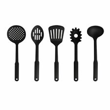 JML 5pc Cooking Utensil Set Heat Resistant Plastic Kitchen Accessories Black