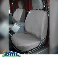 LAND ROVER DEFENDER WATERPROOF FRONT SEAT COVERS GREY 3 SEATS. PART- DA2815GREY