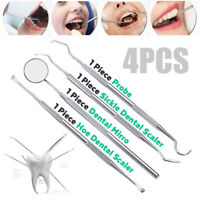 4pcs/Set Dentista Pulizia Dentale  Raschietto Tartaro Dente Cura Denti Scaler