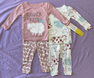 Just One You by Cater's Baby Girls' Cheep 4pc Pajama Set Pink Size 9M