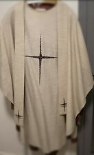 Messgewand Casel  hell mit Stola vestment chasuble