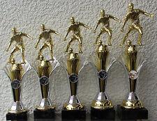 5er Serie Pokale Pokal Fußball mit Figur - auch mit Damenfigur - inkl. Gravuren