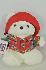Santa Bear 1993 Dayton Hudson Christmas Holiday Traveler Tourist Stuffed Plush