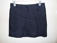 Women's - 4 Star - Black Pin Striped Mini Skirt - Size 7