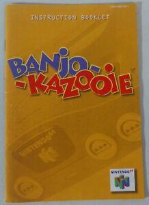 Banjo Kazooie manual only - N64 Nintendo 64 - Free Shipping