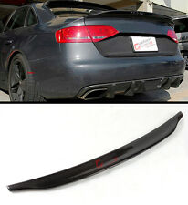 FOR AUDI A4 B8 FACELIFT CAT STYLE CARBON FIBER TRUNK HIGH KICK SPOILER WING