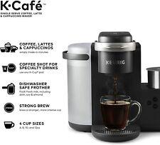 Keurig K-Cafe Single-Serve K-Cup Coffee Maker + Milk Frother, Dark Charcoal