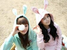 KAWAII Cute Ear Bunny Hoodie Coat Jacket Korean Rabbit Sweatshirt Ulzzang Winter