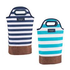 Summerhouse Insulated 2 Bottle Wine Carrier Cooler Bag | NAVY
