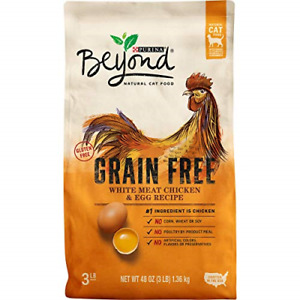 Purina Beyond Grain Free, Natural, Adult Dry Cat Food Chicken & Egg 3 lb.