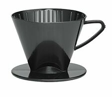 Pour Over Coffee Filter Cone, Black, Number 2-Size Filter, Brews 2 to 6-Cups