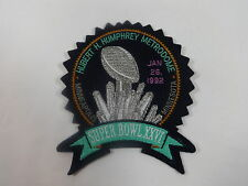 1992 Super Bowl XXVI Patch Hubert H. Humphrey Metrodome Minneapolis Mark Rypien