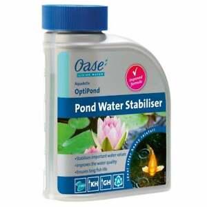 Oase OptiPond 500ml Pond Water Stabiliser KH GH PH Buffer Garden Pond Koi